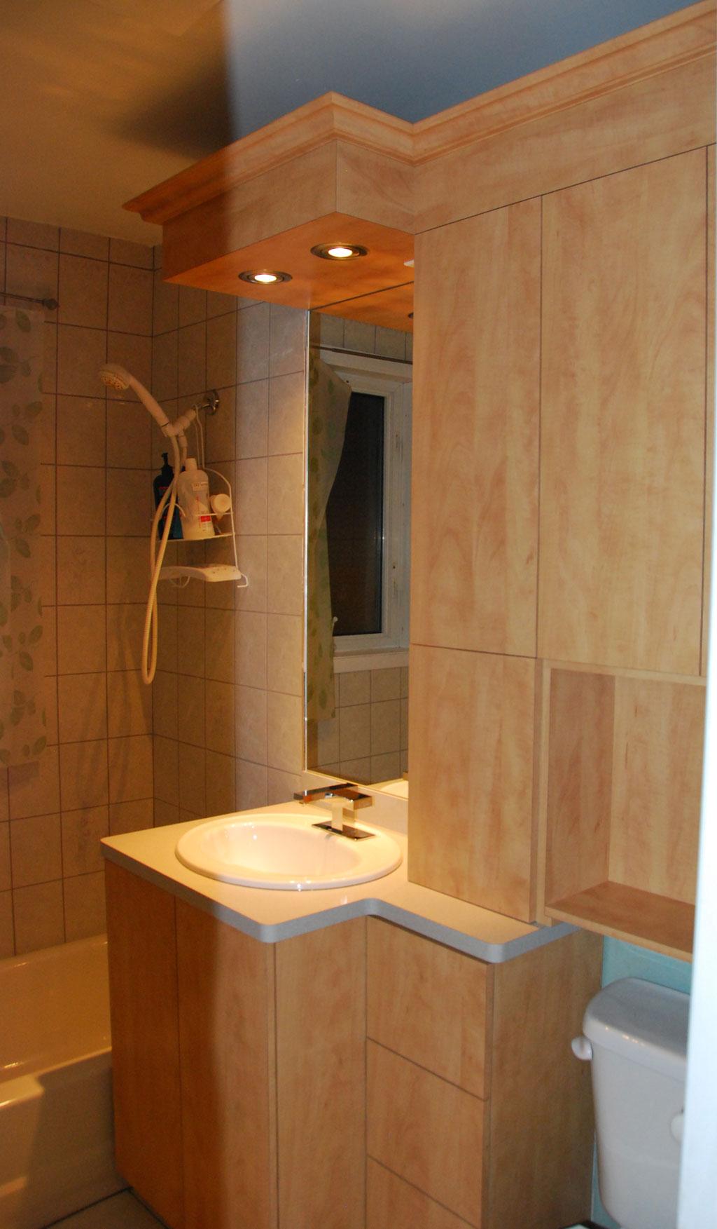 Vanit et armoires les entreprises alain pilon inc for Materiaux salle de bain