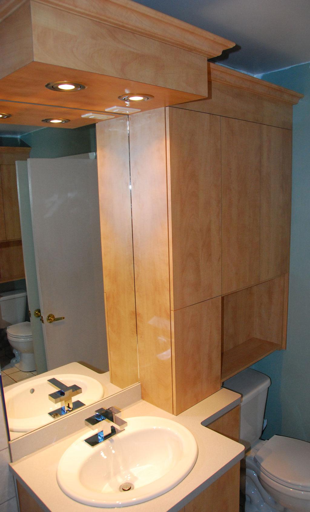 Vanit et armoires les entreprises alain pilon inc for Salle de bain en kit