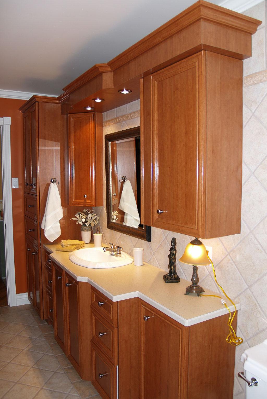 Salles de bain les entreprises alain pilon inc for Armoire de salle de bain
